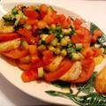 ホタテとトマトのカルパッチョ