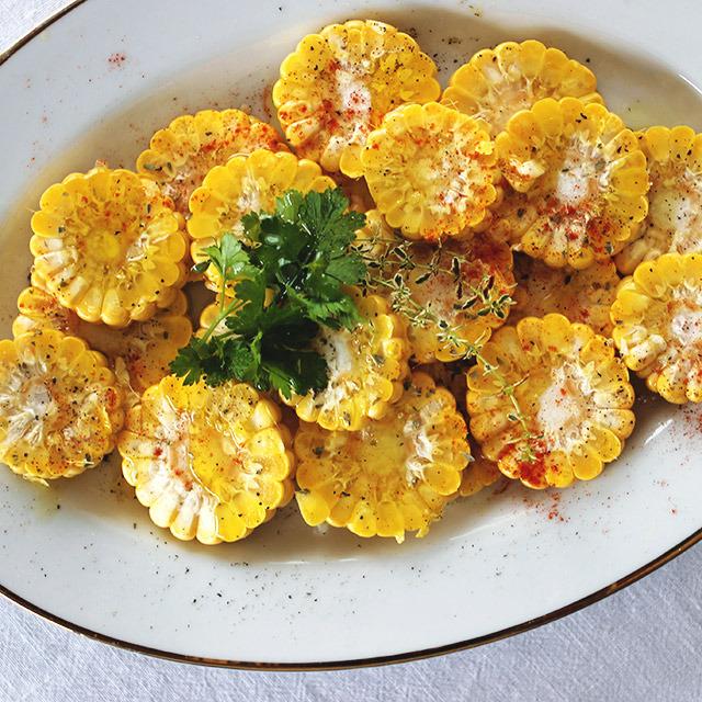 Sweet Corn Carpaccio