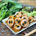 【レシピ】ご飯がススム♪彩り鮮やか市松ポークロール♡