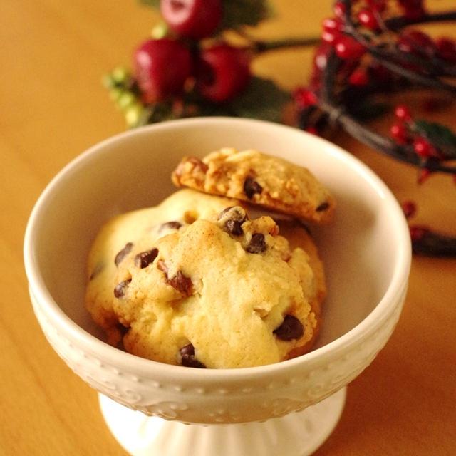 超簡単!クルミとチョコチップの香ばしクッキー☆型抜きいらず(クリスマス・持ち寄り・おやつ・おすそ分けに)