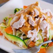 彼の夏バテを予防する!ひらひら野菜の豚しゃぶおかずサラダレシピ