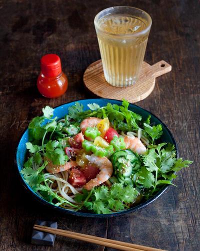 エスニック素麺 & 島唐辛子のタバスコ風