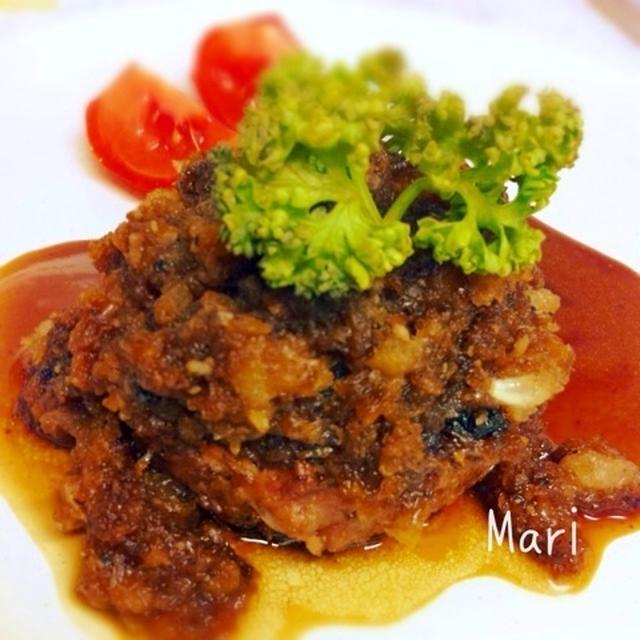 肉汁‼オニオンソースでハンバーグ