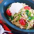 ポン酢だれでサッパリ♪10分 de『トマツナ水菜の和風おろしパスタ』