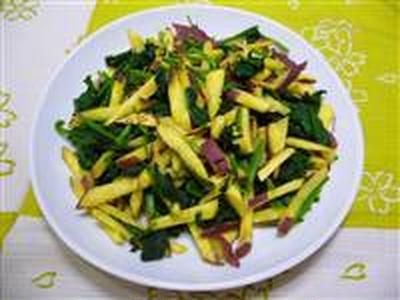 ホウレン草とさつま芋のサラダ