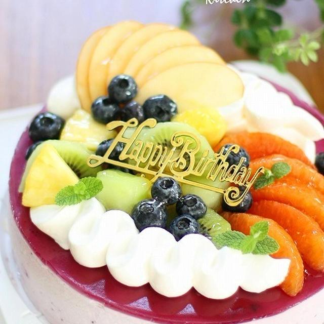 ■ブルーベリー♪レアチーズムース♪ 父の誕生日^^