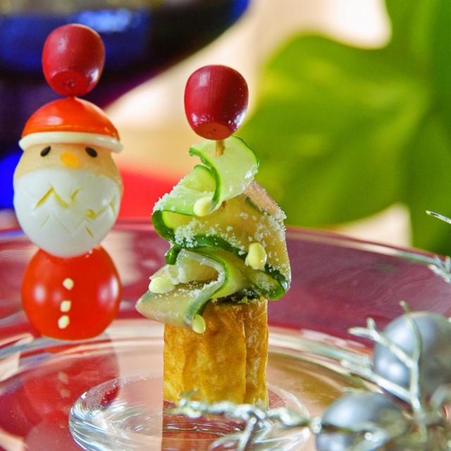 クリスマスのオードブルやパーティーに♡簡単Xmasツリーのピンチョス