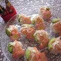 海老とアボカド!ひなまつりの手毬寿司