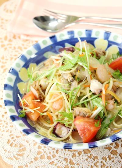魚貝と野菜たっぷりヘルシーパスタ♡(&おすすめ調味料♪