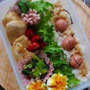 *鶏むね肉のオイマヨ和え弁当と焼き肉パーティー*