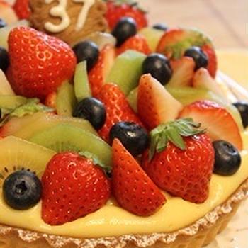 Birthday cake *フルーツタルト* 焼成&仕上げ