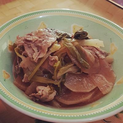 大根と豚肉のさっと煮