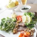 【野菜350g】ワンプレートステーキランチのレシピ