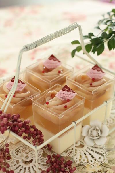 桃とマスカルポーネのベリーヌ