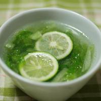 【レシピ投稿】徳島のすだちを使った、夏にぴったりのさわやかスープ。
