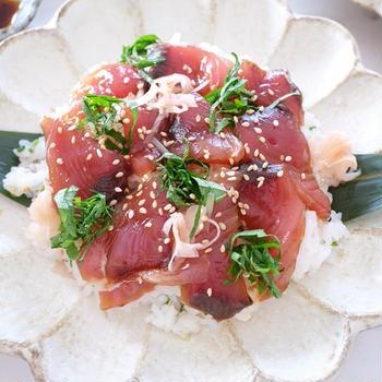 手こね寿司のつくり方☺︎