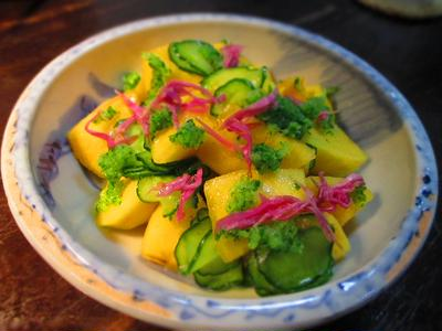 柿と胡瓜のサラダ