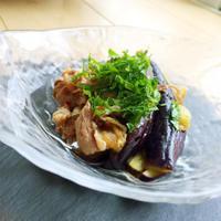 簡単!蒸し茄子と豚しゃぶの旨酢ダレ♡料理教室レポと夕方