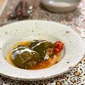 トルコ風ピーマンの肉詰め ビベル・ドルマス Biber Dolmasi ヨーグルトソース添え