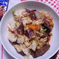 レバーで野菜炒め♪ #GABAN #スパイス #レバー #スタミナ料理