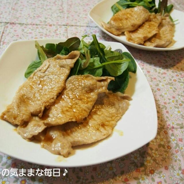 豚肉の生姜焼きと今日のお弁当☆