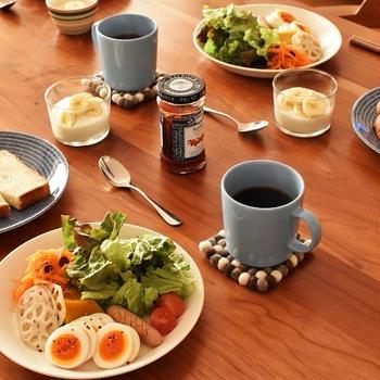常備菜で大満足の朝ごはん。