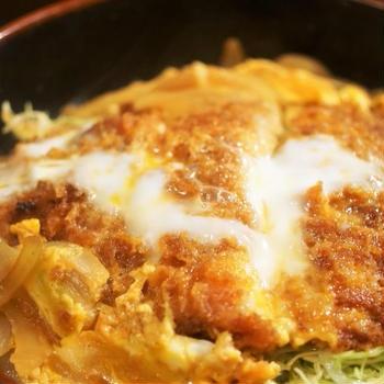■昼ご飯【カツ丼】市販のカツで簡単です。