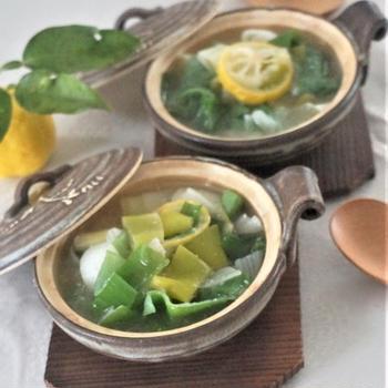 下仁田ねぎの塩麴柚子スープ煮