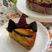 ハロウィンに☆南瓜と板チョコの焼きケーキ
