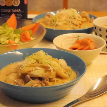 【うちレシピ】フライパンひとつ★豚バラ肉と根菜の和風クリーム煮
