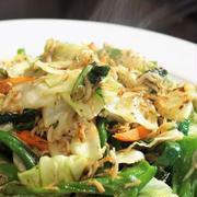 ■シラスと菜園野菜の炒め物 シンプル!ヘルシー!簡単5分!