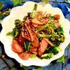 菜の花とウインナーの麻辣醤炒め