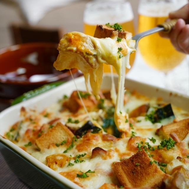 【レシピ】ハロウィンにもおススメ♬海老とかぼちゃのパングラタン♬