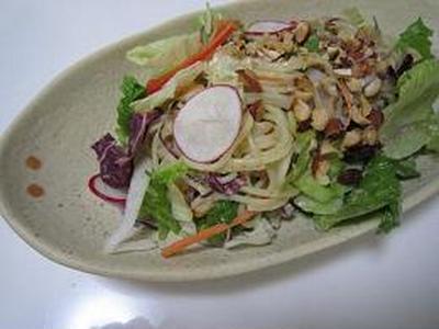 野菜タップリ冷製サラダパスタ