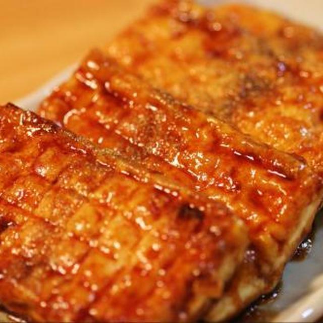 ■余った蒲焼きのタレで♪豆腐の蒲焼■
