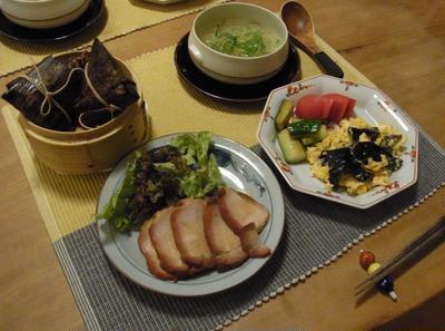 ミカゲヤの焼豚と中華おこわの晩ご飯 と ノリウツギ ライムライトの花♪