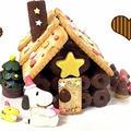 スヌーピーとお菓子の家の簡単な作り方♡Snoopy Chocolate House