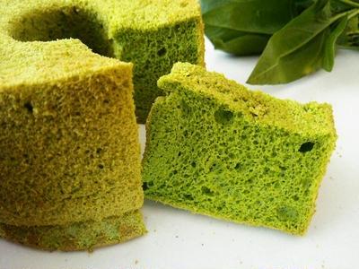 ホウレン草のシフォンケーキ