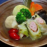 里芋とウインナーロールのポトフ