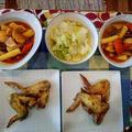 塩レモンで鶏手羽先 ~ トッポキ~ 白菜の塩炒め by Cookieさん