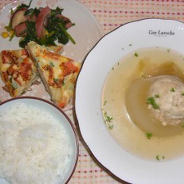 淡路産玉ねぎの肉詰めスープ