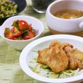 エスニックチキン竜田丼。ゴーヤのWごまナムル。の晩ご飯。 by 西山京子/ちょりママさん
