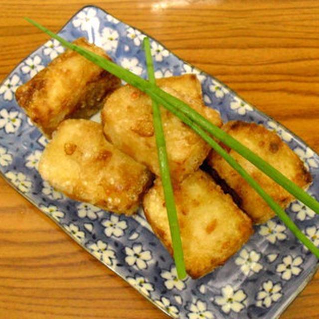 お醤油味香ばしい木綿豆腐のから揚げ