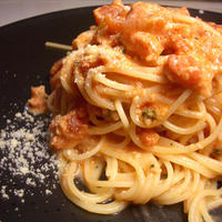 『ワタリガニのトマトクリームパスタ』 料理教室のつくレポです。