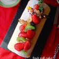 フルーツロールケーキ・シュー皮包みのサラダ