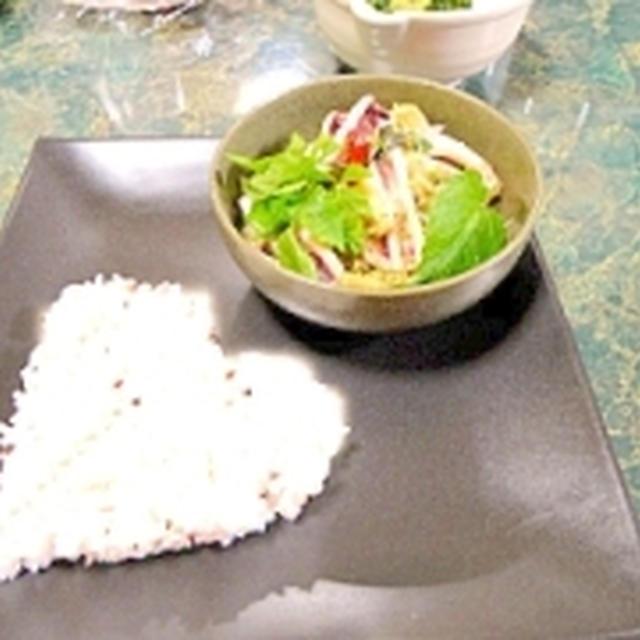 青のチュミチュミペダス(辛イカ炒め)