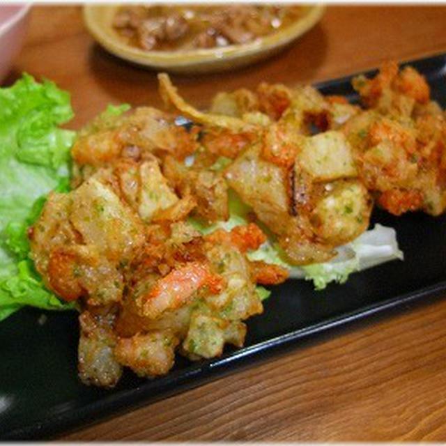 ☆玉ねぎとむきエビのかき揚げと白菜と豚肉のうま煮☆