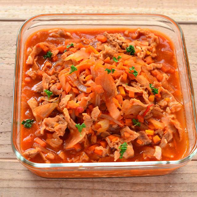 豚肉とたまねぎのデミグラスソース煮