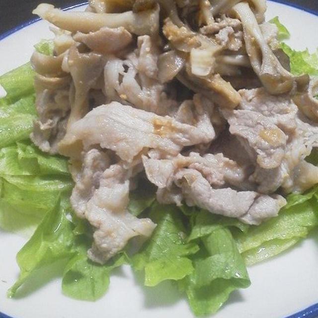 豚こま切れと舞茸の酢味噌サラダ
