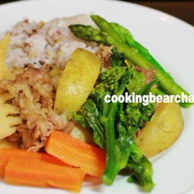 肉じゃがにも春が来た!春野菜の雑穀米肉じゃがプレートの作り方(動画)